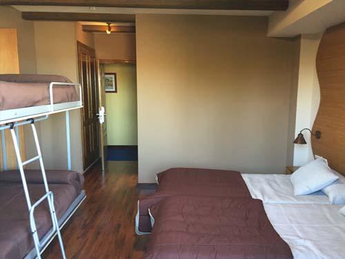 habitaciones cuadruples hotel en sierra nevada